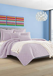J by J Queen New York Oakland Lilac Twin Coverlet