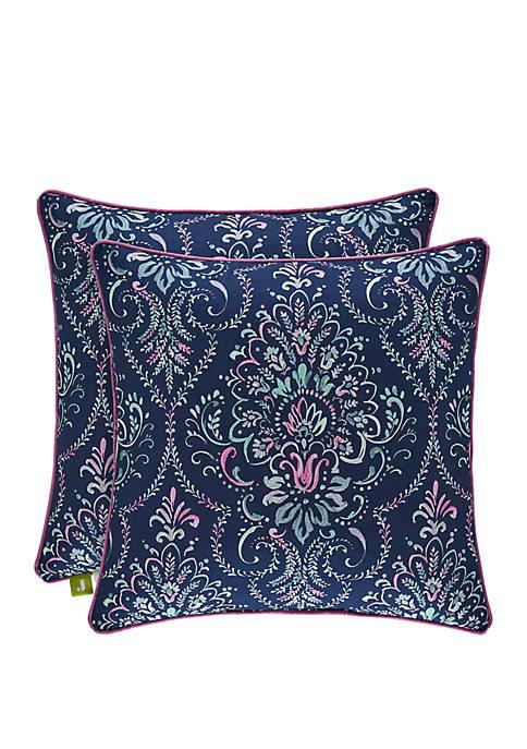 Kayani Indigo Square Pillow