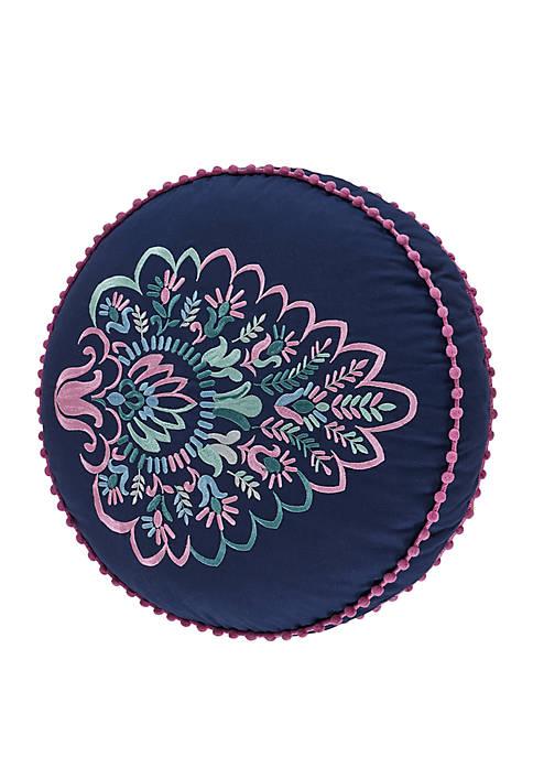 Kayani Indigo Round Pillow
