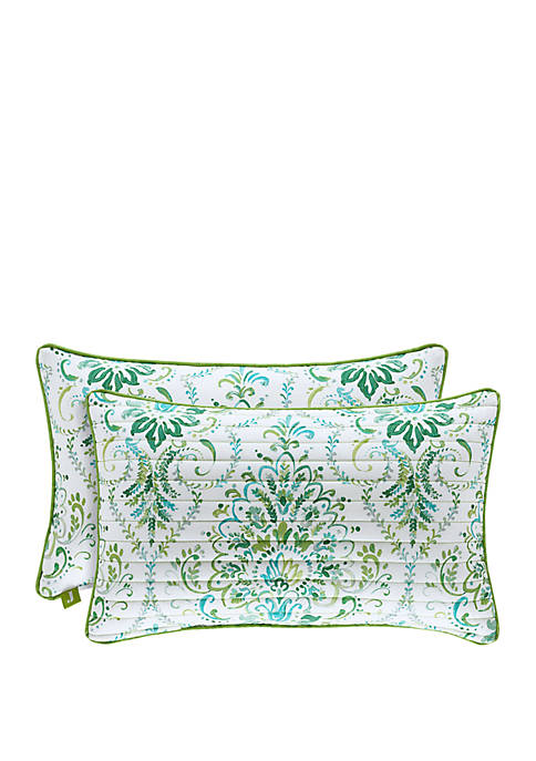 Kayani Teal Quilted Boudoir Pillow