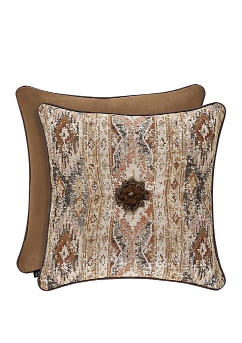 Brave Front Rust 20 in Square Pillow