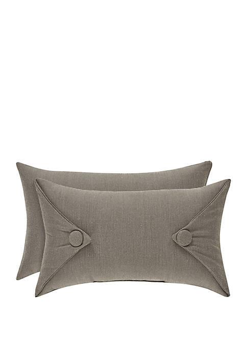 Sutton Graphite 12 in x 20 in Pillow