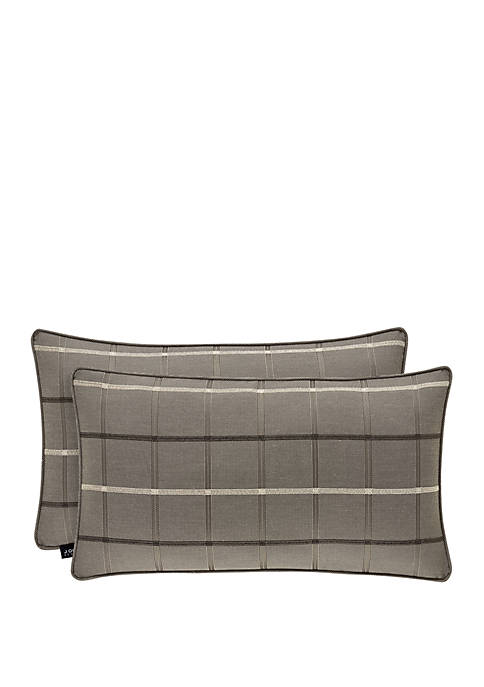 J Queen New York Sutton Graphite Boudoir Pillow