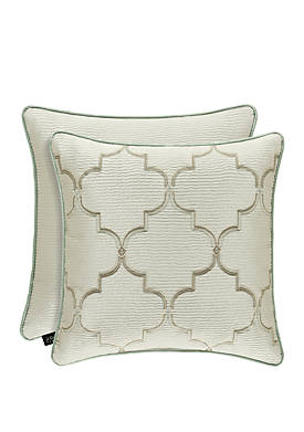 Clearwater Embroidered Throw Pillow