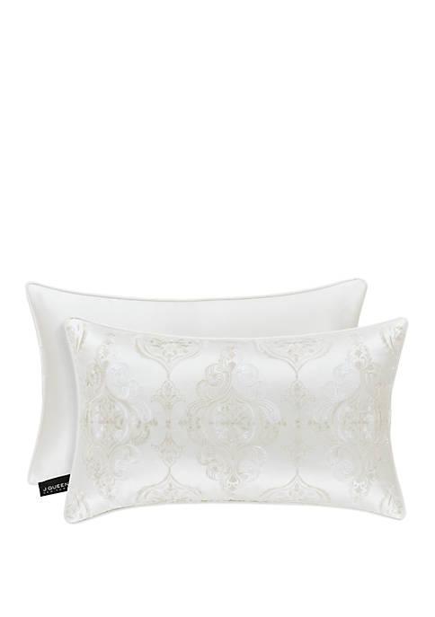 Cordelia White Boudoir Decorative Throw Pillow