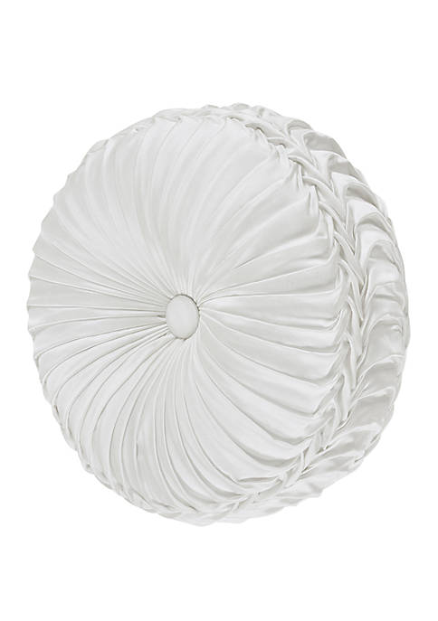 J Queen New York Cordelia White Tufted Round