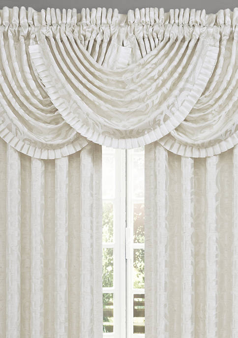 Cordelia White Waterfall Valance