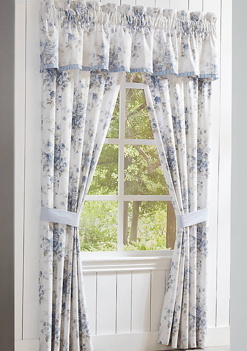 Piper & Wright Frances Blue 84 Inch Window