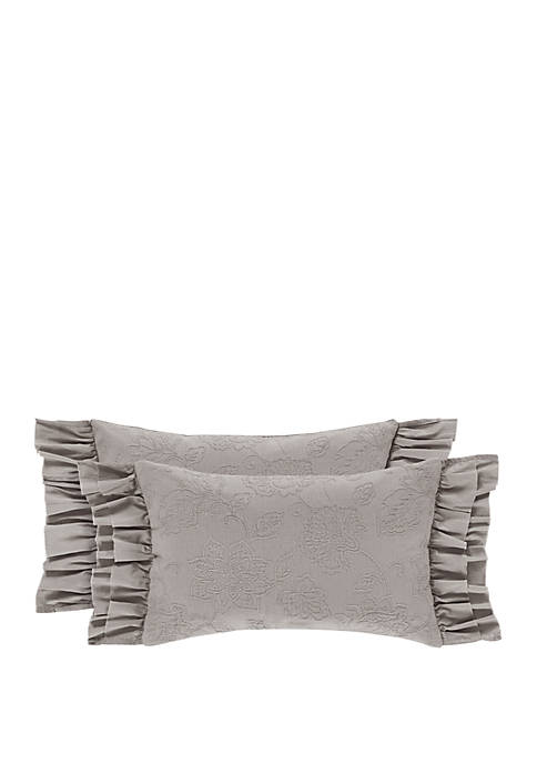 Piper & Wright Emily Gray Boudoir Decorative Throw