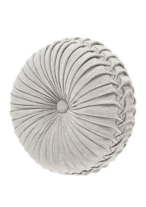 Matteo Cream Tufted Round Decorative Throw Pillow