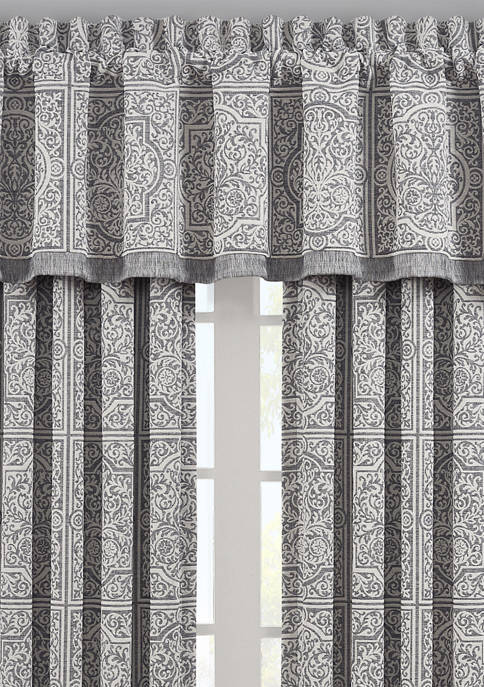Matteo Rod Pocket Window Curtain Panel Pair in Charcoal