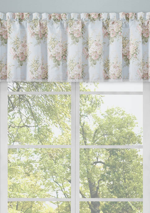 Royal Court Hilary Blue Window Straight Valance