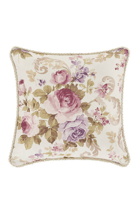 Royal Court Chambord Lavender Square Decorative Throw Pillow
