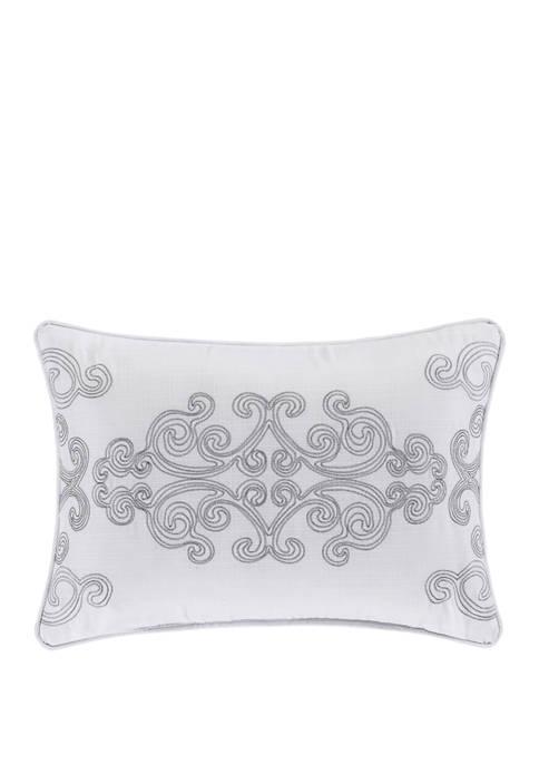 Claremont White Boudoir Decorative Throw Pillow