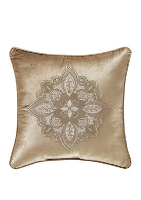 Sandstone 18 Inch Square Embellished Decorative Throw Pillow
