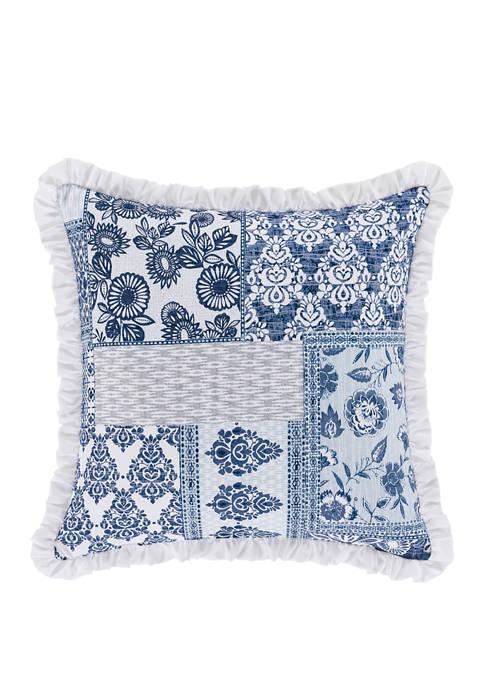 Royal Court Tessa Navy Square Decorative Throw Pillow