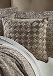 Cracked Ice 18 Inch Square Decorative Throw Pillow