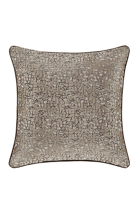 Cracked Ice 20 Inch Square Decorative Throw Pillow