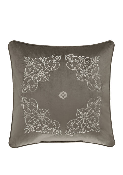 18 Inch Crestview Silver Square Decorative Throw Pillow
