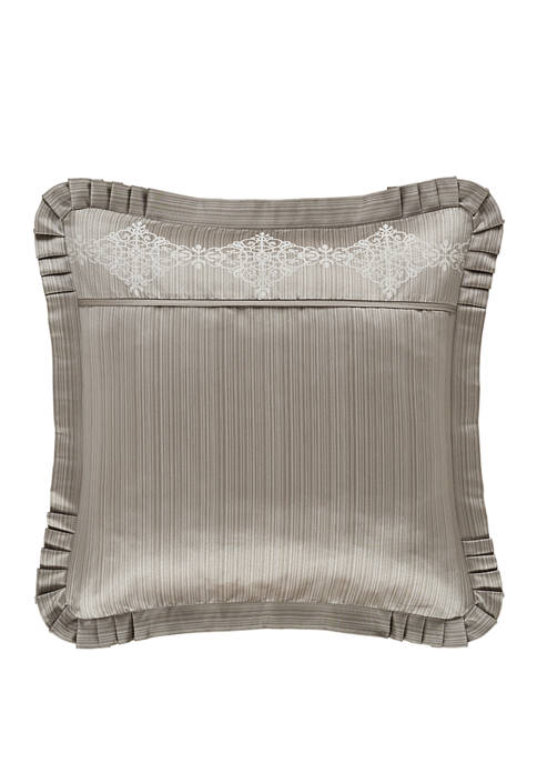 J Queen New York Crestview Silver Euro Sham