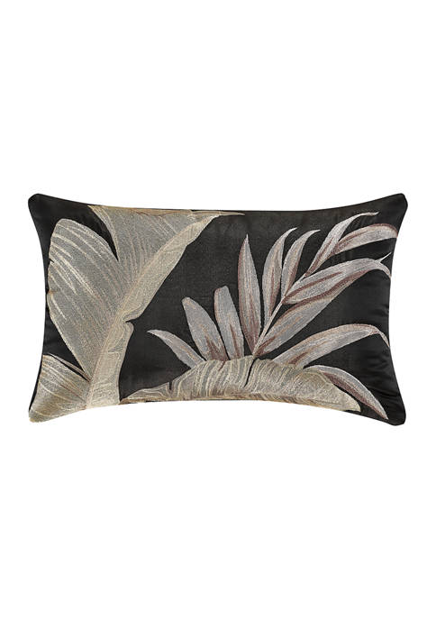 Martinique Black Boudoir Decorative Throw Pillow