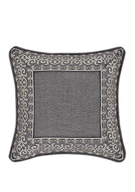 Tribeca 18 Inch Square Embellished Decorative Throw Pillow