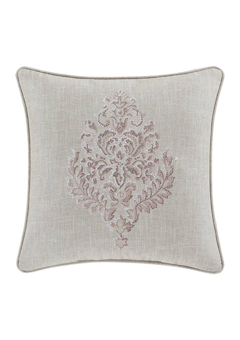 Angeline Beige 20 Inch Square Decorative Throw Pillow