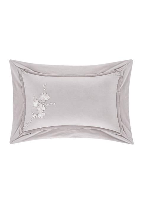 Cherry Blossom Gray Boudoir Decorative Throw Pillow