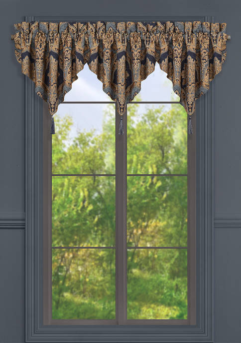 Bristol Indigo Window Ascot Valance