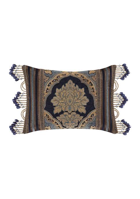 Five Queens Court Bristol Indigo Boudoir Decorative Throw