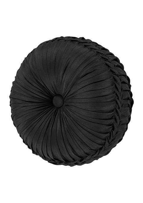 Five Queens Court Silverstone Black Tufted Round Decorative
