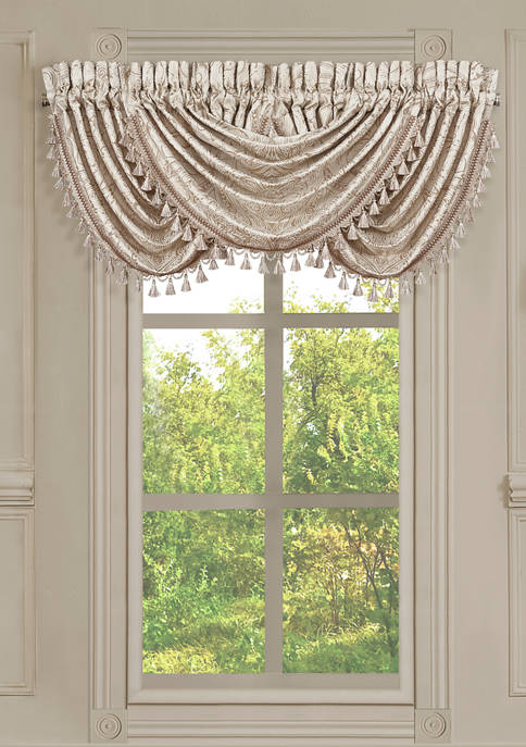 Trinity Champagne Window Waterfall Valance