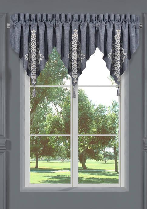 Richmond Indigo Window Ascot Valance