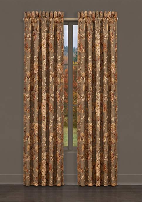 Camellia Rust 84 Inch Window Panel Pair