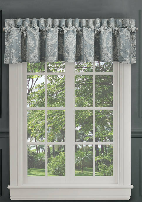 Nicolette Blue Window Straight Valance