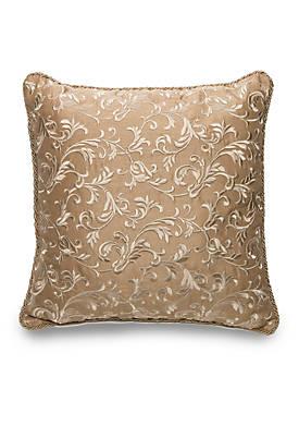 Eleganza Square Scroll Embroidered Decorative Pillow