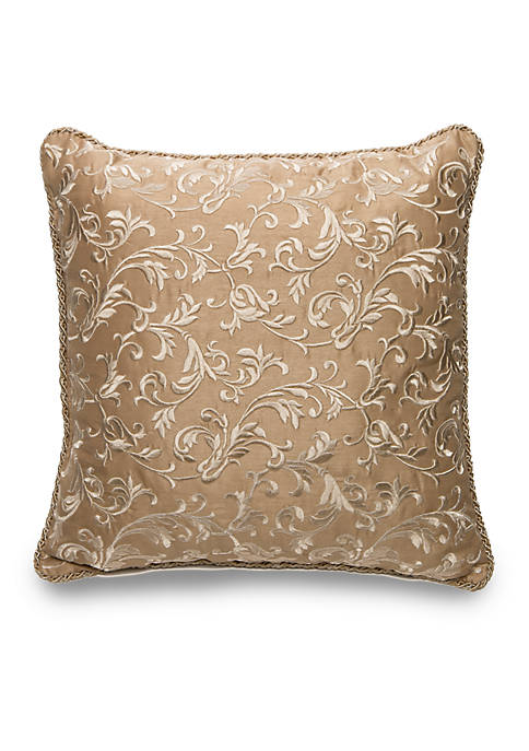 Biltmore® Eleganza Square Scroll Embroidered Decorative Pillow