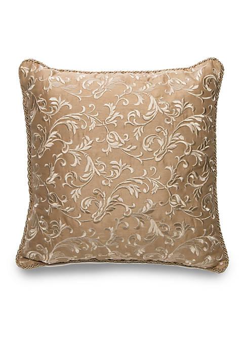 Biltmore® Eleganza Square Scroll Embroidered Decorative Pillow