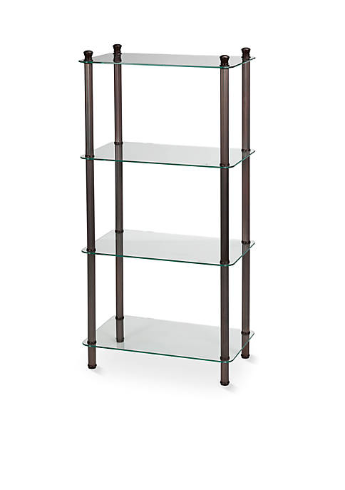 LEtagere Classic 4 Shelf Wide Tower in Bronze