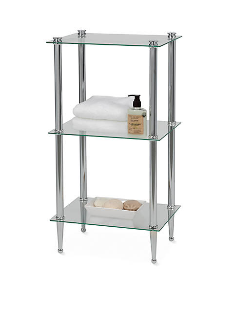 Creative Bath 3-Shelf Chrome Tower