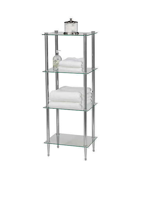 Creative Bath 4-Shelf Chrome Tower