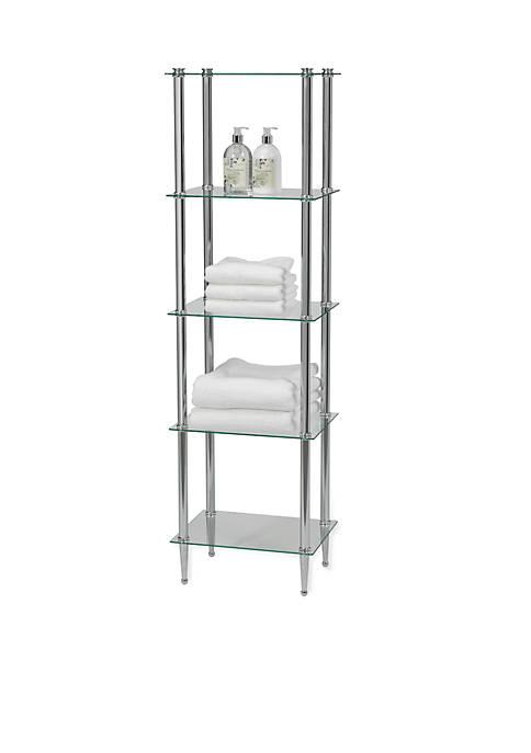 Creative Bath Classic Chrome 5-Shelf Tower