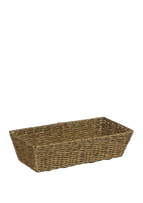 Creative Ware Home Capri Rattan Vanity Basket