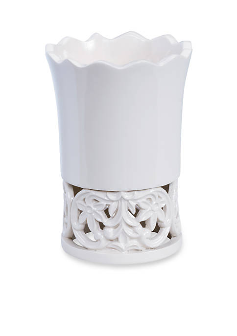 Creative Bath Belle White Tumbler 3.6-in. x 3.6-in.