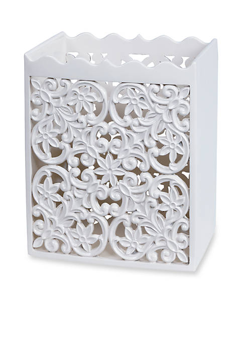 Creative Bath Belle White Wastebasket 10-in. x 8.25-in.