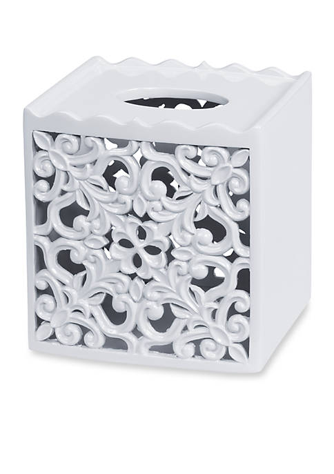 Creative Bath Belle White Tissue Box 7-in. x