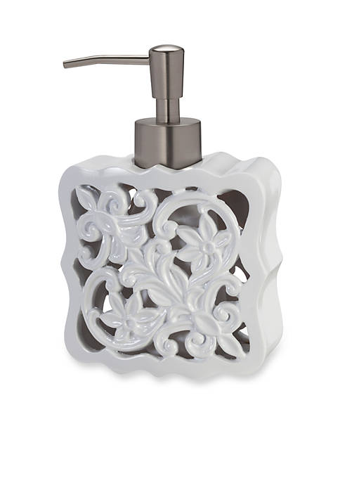 Creative Bath Belle White Lotion Dispenser 4.6 x