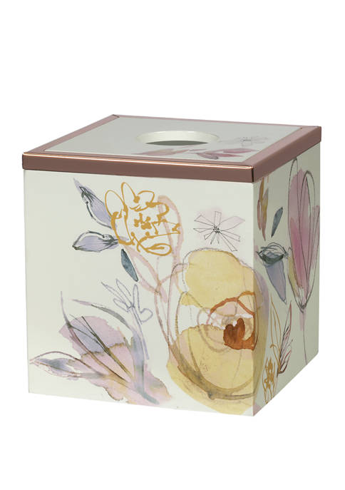 Creative Bath Blush and Blooming Tissue Holder