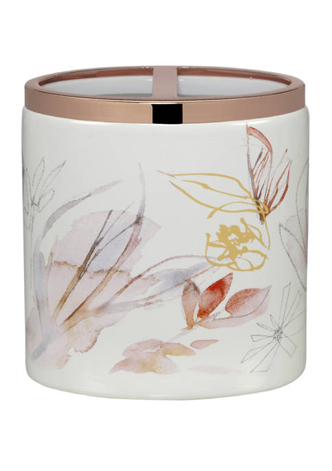 Blush and Blooming Toothbrush Holder