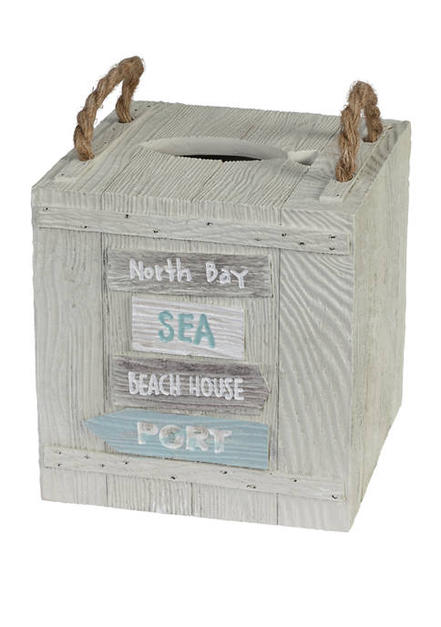 Creative Bath Driftwood Boutique Tissue Holder